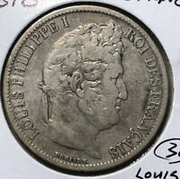 1831-B France 5 Francs Louis Philippe Silver Coin