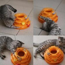 Pet Cat Amusement Interactive Kitten Crazy Ball Disk Cute Trilaminar Plate Toys
