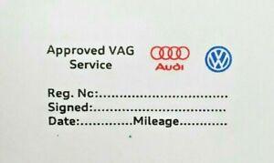 Generic Owner serviced Audi, VW Garage Mechanics self Service History stamp