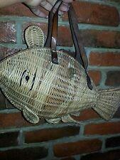 1950s wicker fish purse by simon