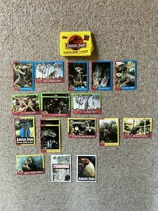 Jurassic Park Topps Trading Cards Series 2 Two 1993 Film Movie Stickers Packet