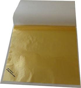 20 Blatt Blattgold (Imit.) Schlagmetall 13,5 x 13,5 cm zum Vergolden & Basteln