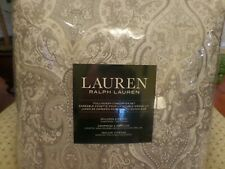 RALPH LAUREN Corot Paisley 3PC FuLL/ QUEEN COMFORTER SET COTTON NWT