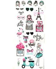 Paris Stickers Eiffel Tower Beauty Scooter Prefume Fashion Modern Girls