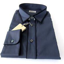 J-2984106 Nuevo Brioni Gris Carbón PLOMO Negro Detalle Camisa Oxford Talla L