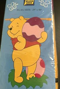 VTG 90's Winnie Pooh Bear Outdoor Hanging Decorative Flag-Easter (New in bag)