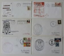 US Navy 1976 1979 USS Mississippi CGN 40 Georgia SSBN Leftwich Cushing Cover x 6