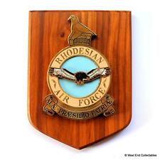 More details for rhodesian air force rraf raf squadron badge wall plaque shield crest zimbabwe