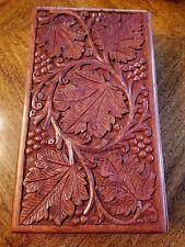 Lungarotti Decorative Carved Wood Gift Box - 2 Wine Bottle Storage Chest