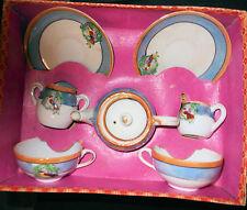 Vintage Japanese Lustre Doll Dish 8 Piece Tea Set, Original Box