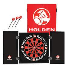 """Formula Holden Collector Set:18"""" Dartboard + 3 Darts + Cabinet Free Postage"""