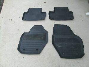 2010-2013 VOLVO XC60 SET OF 4 FRONT REAR RUBBER FLOOR MATS LINERS OEM BLACK