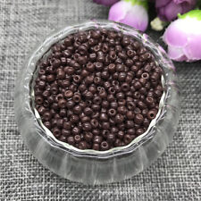 Wholesale NEW 3MM 500pcs Glass With Seed Spacer beads Jewelry Fitting Brown