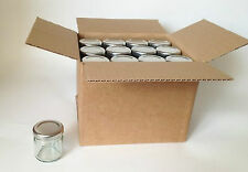 Nutley 42 ml Small Glass Jam Jars With Silver Lids Set Of 30 Mini Jar GIFT NEW