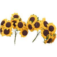100pcs/lot Mini Artificial Paper Sunflower for Wedding Decor
