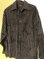 Mens Long Sleeve Dress Shirt Eighty Eight Platinum Size Medium With Designs Nice