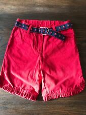Janie and Jack Girls Red Flat Front Shorts with Strawberry Belt Size 3T