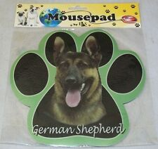 GERMAN SHEPHERD Black Dog Paw Shaped Computer MOUSE PAD Mousepad NEW IN PACKAGE
