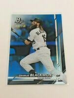 2019 Bowman Platinum Baseball Blue Parallel #/150 - Charlie Blackmon - Rockies