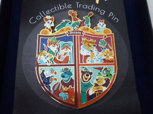 Disney Trading Pins Artland UK Boxed Robin Hood Crest with Giclee Artist Proof V