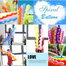 10 pcs Mixed Spiral Latex Balloons Wedding Kids Birthday Party Anniversary Decor