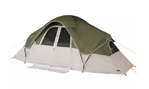 8 PERSON - 2 ROOM CABIN TENT 16 X 8 X 6.17 FT CAMPING HIKING OUTDOOR TRAVEL TENT