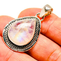 "Rainbow Moonstone 925 Sterling Silver Pendant 1 1/2"" Ana Co Jewelry P739639F"