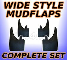 4 x WIDE Rubber Mud Flap For all Models .. FRONT & REAR Set Mudflaps