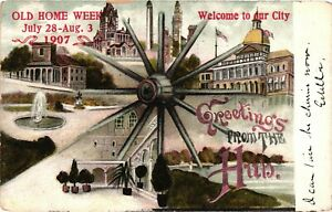 Vintage Postcard - Posted 1907 Greetings From The Hub Boston Massachusetts #8257