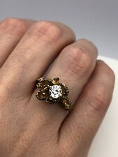 vintage 925 sterling silver CZ Ring Size 6.75 (5.9 Grams)