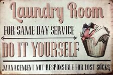 Laundry Room new tin metal sign MAN CAVE