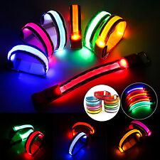 LP:LED Armband Leuchtband Lauf Reflektorband Sicherheitsband Radfahren Klettband