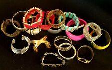 Lot Chunky Bangle Bracelets Metal Beads Plastic Fashion Jewelry Over One Pound