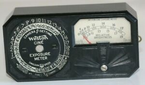 Vintage Weston Model 819 Exposure Light Meter Newark NJ Art Deco Style WORKING
