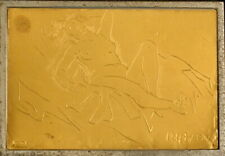 Reclining Nude Limited Ed Italian L Amigoni Etching On Gold