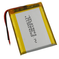 3.7V 3000 mAh Polymer Li ion battery Lipo For ipod PDA DVD GPS Tablet PC  814864
