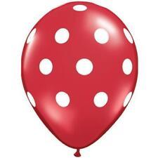 Globos de látex de fiesta color principal rojo ovalada