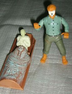 Jack In The Box Mummy & Howling Wolfman Toy Figures Universal Studios Monsters