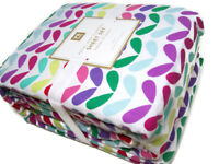 Pottery Barn Teen Multi Colors Petal Pop Flannel Cotton Queen Sheet Set New