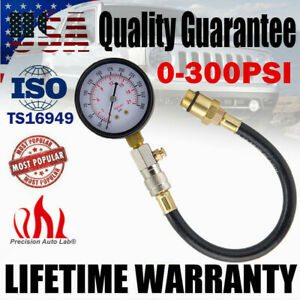 0-300PSI CAR AUTO GASOLINE ENGINE CYLINDER COMPRESSION DIANOSTIC TESTER GAUGE