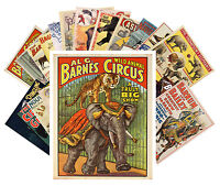 Postcards Pack [24 cards] Vintage Circus Posters Animal Show Horses CC1012