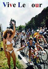 Z Peugeot Vive Le Tour girl A4 poster Campagnolo Super Record C