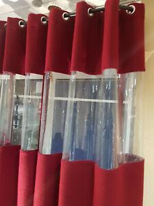 Windfang Vorhang Gastro Vorhang Kälteschutzvorhang mit Sichtfenster extra schwer