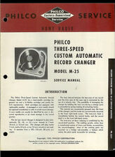 Philco M-25 Record Changer Player Rare Vintage Orig Factory Service Manual