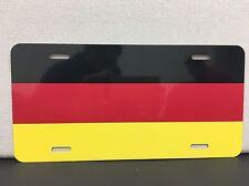 german flag license plate