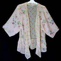 Girls Next Pale Pink Floral Chiffon Open Fronted Kimono Cardigan Age 12 Years