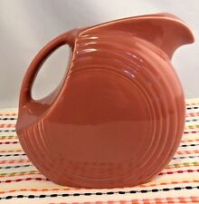 Vintage Fiestaware Rose Large Disc Pitcher Fiesta 1950s Pink Water Pitcher