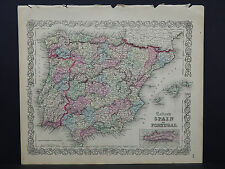 Colton's Maps, 1855, Authentic #16 Spain and Portugal