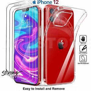 CUSTODIA per iPhone 12 /Pro /Max /Mini 11 Cover TPU + Pellicola VETRO Temperato