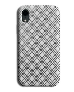 Silver White Tartan Chequered Squares Phone Case Cover Shapes Tartan F182
